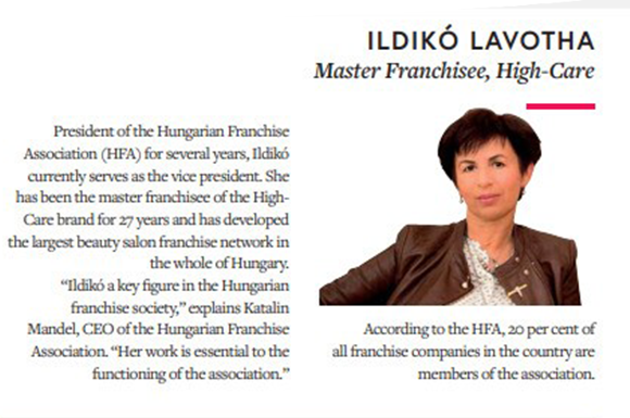 News Ildiko 100 franchisees